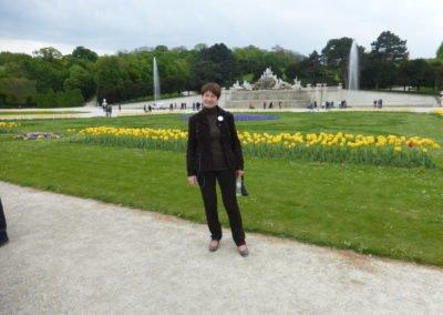 Autorka zdjęć, pani Magda, w Schonnbrun